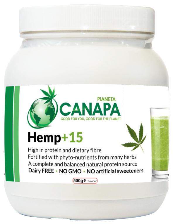 Acquista Hemp+15 di Pianeta Canapa: 100% di ingredienti naturali, proteine della canapa e erbe benefiche. Prodotto vegano, crudo, molto facilmente digeribile, adatto anche per bambini e anziani
