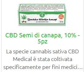 Se invece vuoi coltivare poche piantine per il tuo uso personale, puoi acquistare qui alcuni semi di canapa ad alto contenuto di CBD, 10%